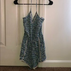 Floral print romper from Hollister